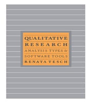 Qualitative Research: Analysis Types and Software - 1st Edition book cover