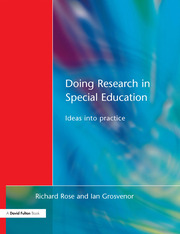 Doing Research in Special Education - 1st Edition book cover