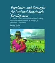 Population and Strategies for National Sustainable Development - 1st Edition book cover