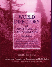 World Directory of Environmental Organizations - 6th Edition book cover