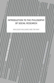 An Introduction To The Philosophy Of Social Research - 1st Edition book cover