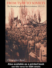From Tsar To Soviets - 1st Edition book cover
