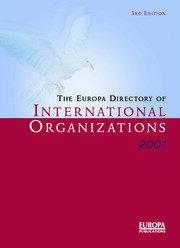 Europa Dir Intl Orgs 2001 - 3rd Edition book cover