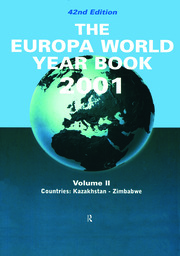 Europa World Year Bk 2001 V2 - 42nd Edition book cover