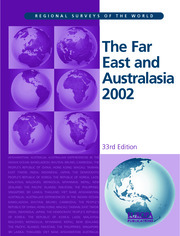 The Far East and Australasia 2002 - 33rd Edition book cover