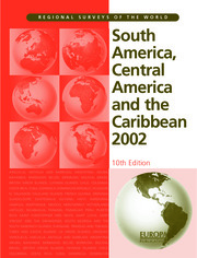 South America, Central America and the Caribbean 2002 - 10th Edition book cover