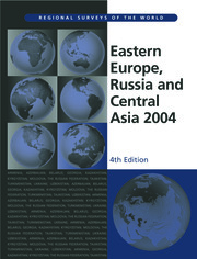 Eastern Europe, Russia and Central Asia 2004 - 1st Edition book cover