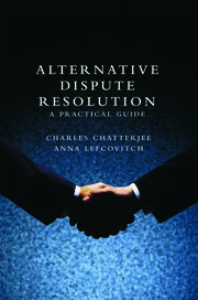 Alternative Dispute Resolution - 1st Edition book cover