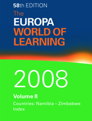 The Europa World of Learning 2008 Volume 2 - 1st Edition book cover