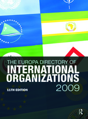 Europa Directory of International Organizations 2009 - 11th Edition book cover