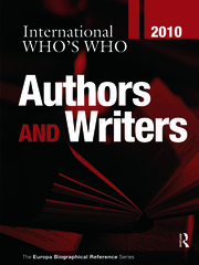 International Who's Who of Authors & Writers 2010 - 25th Edition book cover