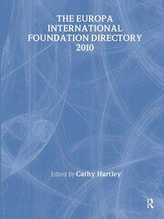 The Europa International Foundation Directory 2010 - 19th Edition book cover