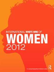 International Who's Who of Women 2012 - 8th Edition book cover