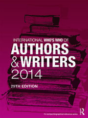 International Who's Who of Authors and Writers 2014 - 29th Edition book cover