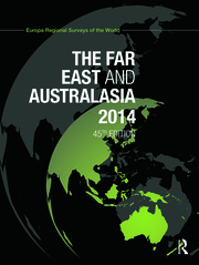 The Far East and Australasia 2014 - 45th Edition book cover