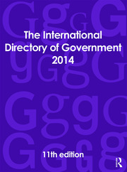 The International Directory of Government 2014 - 11th Edition book cover