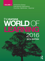 The Europa World of Learning 2016