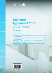 RIBA Standard Agreement 2010 (2012 Revision): Consultant - 1st Edition book cover