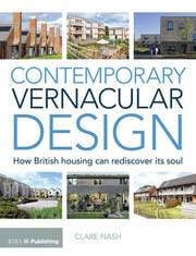 Contemporary Vernacular Design - 1st Edition book cover