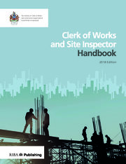Clerk of Works and Site Inspector Handbook - 1st Edition book cover