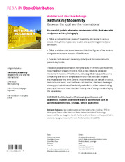 Rethinking Modernity - 1st Edition book cover