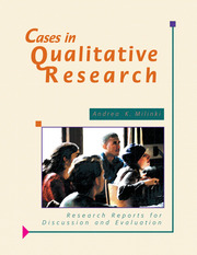 Cases in Qualitative Research - 1st Edition book cover