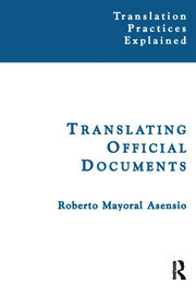 Translating Official Documents - 1st Edition book cover