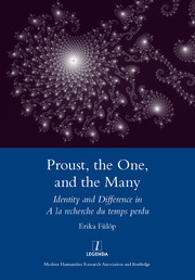Proust, the One, and the Many : Identity and Difference in A La Recherche Du Temps Perdu - 1st Edition book cover