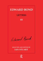 Edward Bond: Letters 3 - 1st Edition book cover