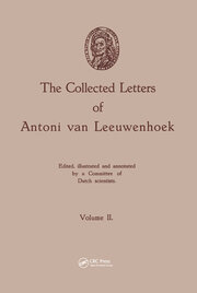 The Collected Letters of Antoni van Leeuwenhoek, Volume 2