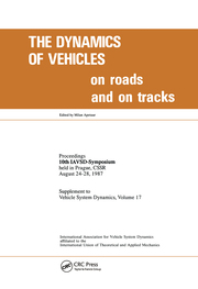 The Dynamics of Vehicles on Roads and on Tracks - 1st Edition book cover