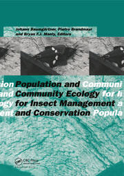 Population and Community Ecology for Insect Management and Conservation - 1st Edition book cover