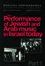 The Performance of Jewish and Arab Music in Israel Today - 1st Edition book cover
