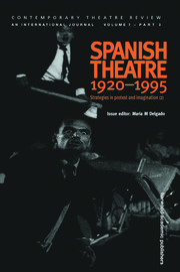 Spanish Theatre 1920 - 1995 - 1st Edition book cover