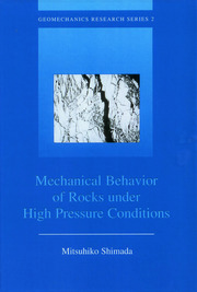 Mechanical Behaviour of Rocks Under High Pressure Conditions - 1st Edition book cover
