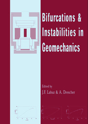 Bifurcations and Instabilities in Geomechanics: Proceedings of the International Workshop, IWBI 2002, Minneapolis, Minnesota, 2-5 June 2002
