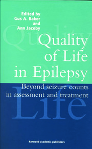 Quality of Life in Epilepsy - 1st Edition book cover