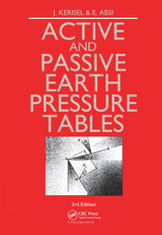 Active and Passive Earth Pressure Tables - 1st Edition book cover