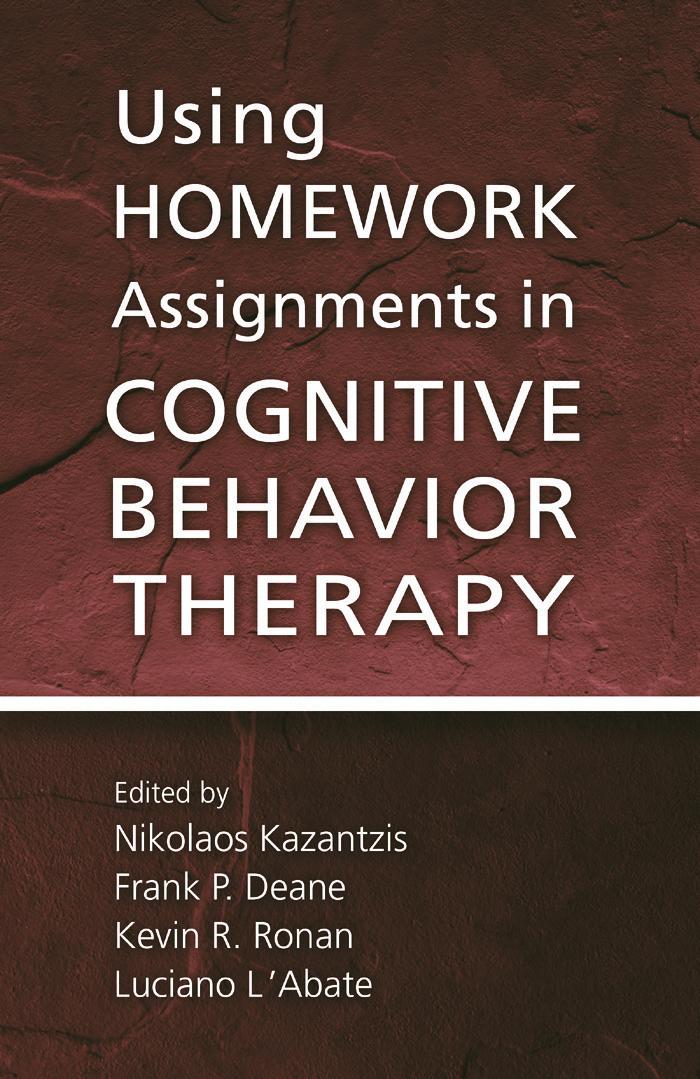 Cognitive behavioral homework assignments college essay ghostwriter websites au